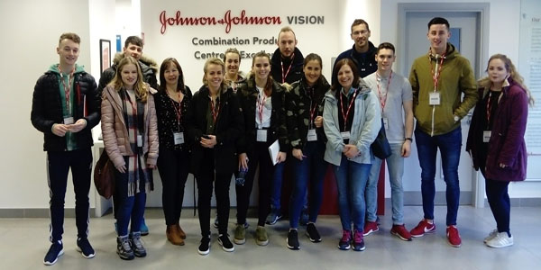 4th Year Env Science field trip to Johnson&Johnson Vision