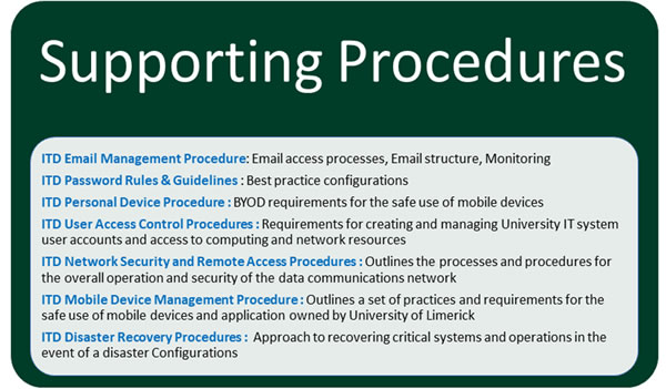 Supporting Procedures
