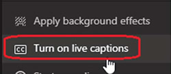 Turn on Live Captions
