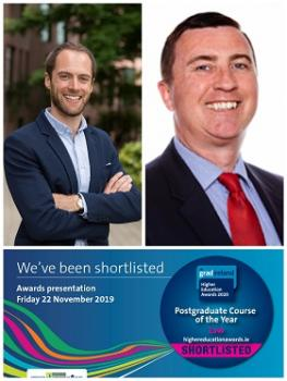Shortlisted for gradireland Higher Education Awards 2020