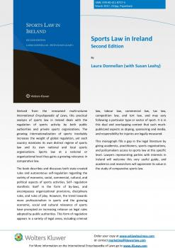 Just published Sports Law in Ireland 2nd edition