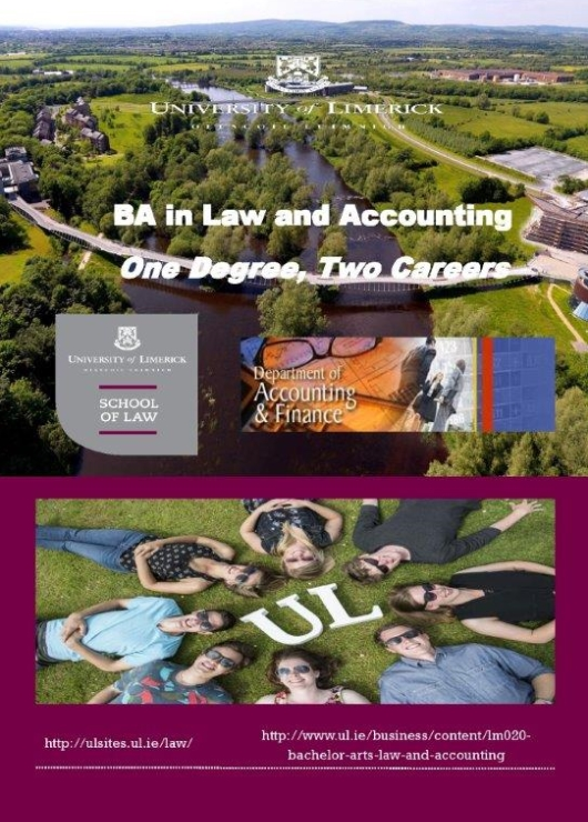 Cover of the BA  in Law and Accounting brochure