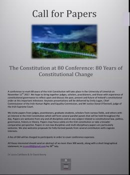 Call For Papers The Constitution at 80 Conference
