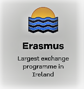 "Graphic saying ""Erasmus: The largest exchange programme in Ireland"""