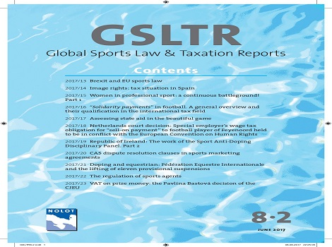 Laura Donnellan publishes article in Global Sports Law and Taxation Reports