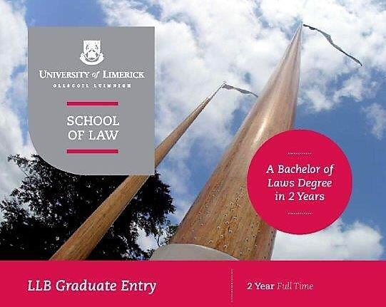 Cover of the LLB Graduate Entry Brochure.