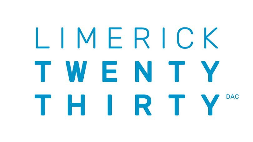 Limerick 2030 logo, blue on white