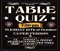 Poster for the table quiz