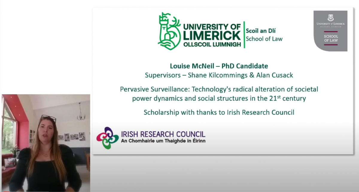 A screenshot of the video by Louise McNeil on her research