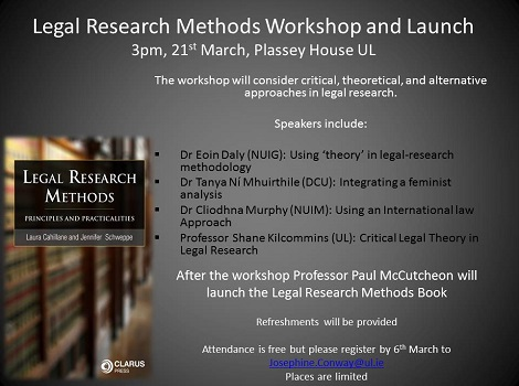 Legal Research Methods Workshop and Book Launch - 21 March 2017