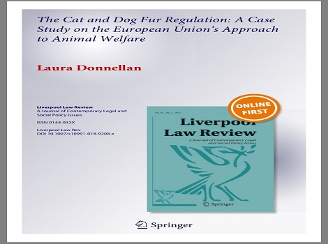 Cat and Dog Fur Regulation published in the Liverpool Law Review