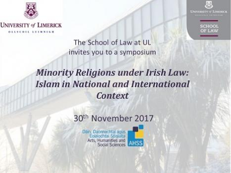 MINORITY RELIGIONS UNDER IRISH LAW: ISLAM IN NATIONAL AND INTERNATIONAL CONTEXT
