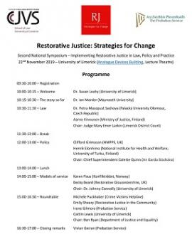 Restorative Justice Conference Co-Hosted by the CCJVS