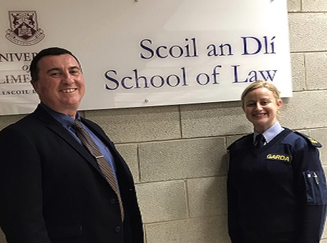 Dr Ger Coffey and Garda Síobhán Madden.