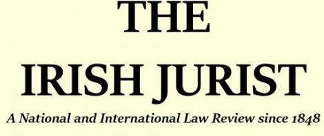 Publication in The Irish Jurist