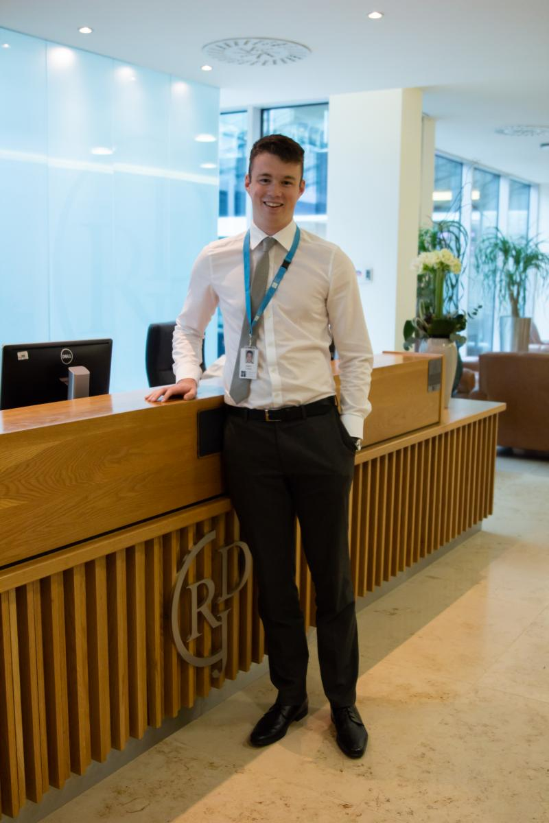 Adam D'Arcy on placement at Ronan Daly Jerym solicitors