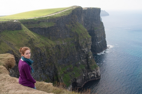 Photograph of Bianca Cennamo at the Cliffs of Moher