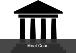Moot Court, icon of a court building