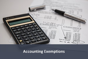 Accounting Exemptions