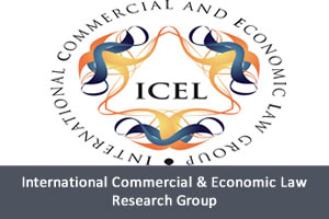 Logo for the International Commerical & Economic Law Research Group
