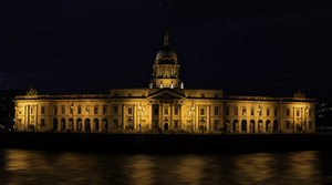 Image of the Irish Supreme Court buildings at night