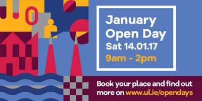 Open Day at UL 14 January 2017