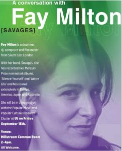 PMPC@UL in Conversation with Fay Milton (Savages)