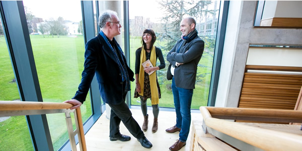 Sara Baume, Joseph O'Conner and Donal Ryan at the launch of UL One Campus One Book 2015/16