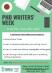 PhD Writers Week June Poster