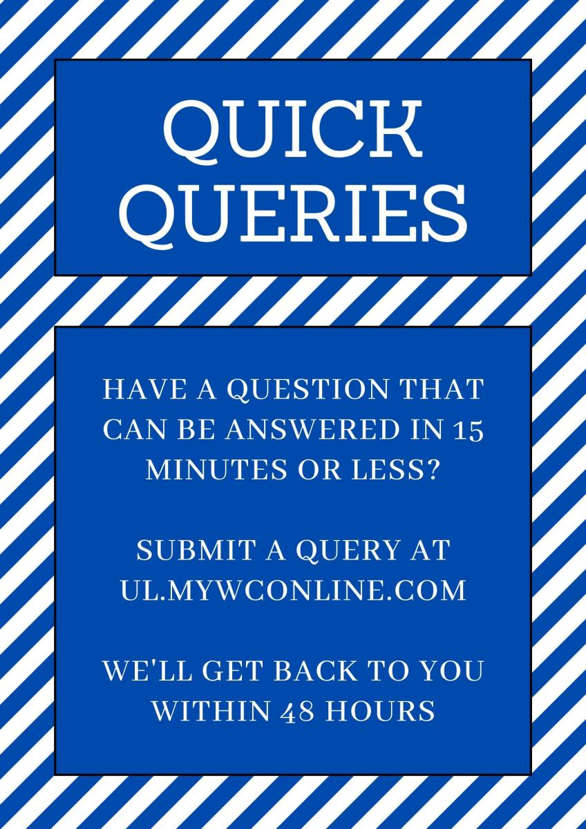 Quick queries poster