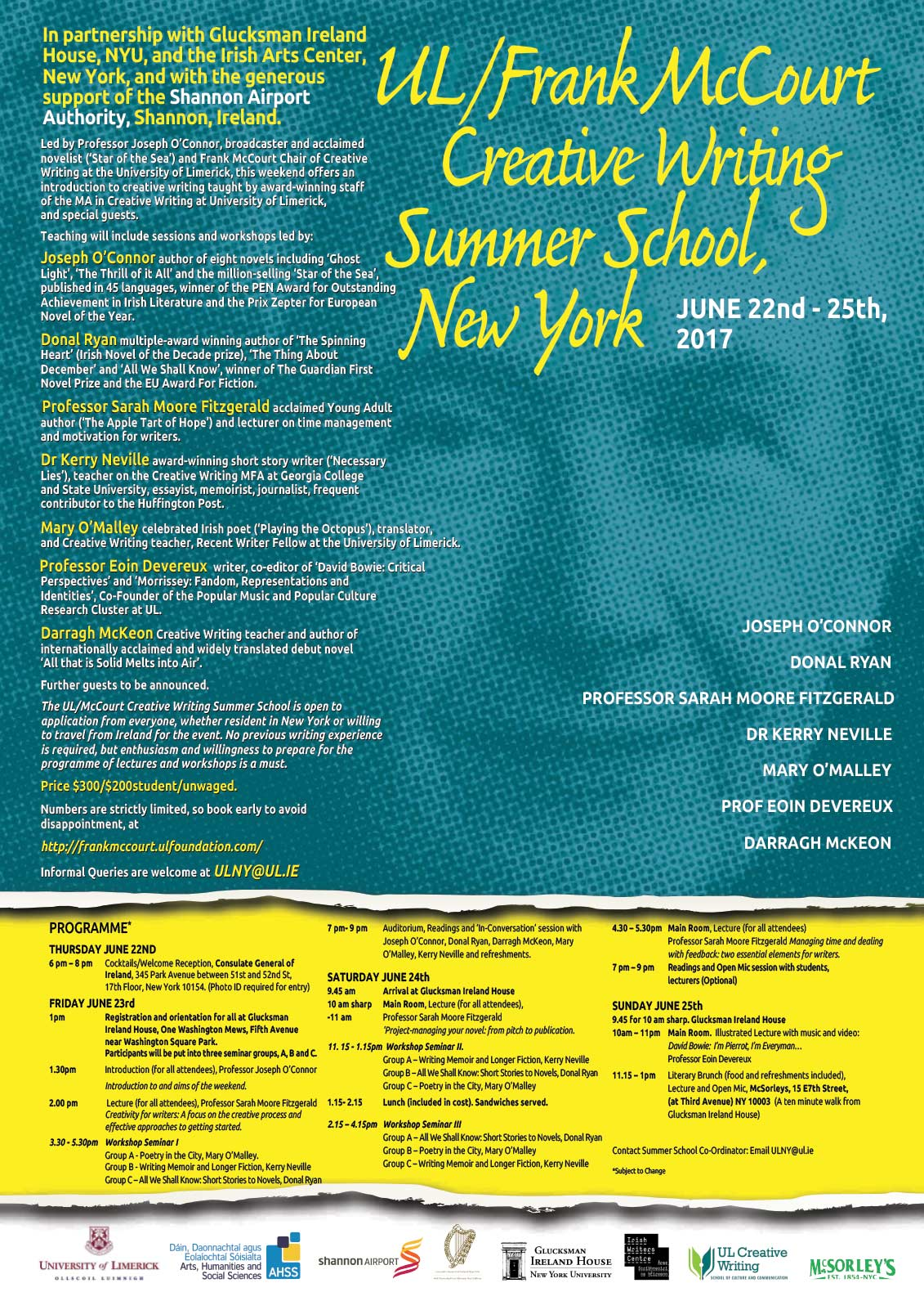 creative writing summer courses new york View all summer courses study abroad the summer creative writing institute offers students opportunities to and reviews have appeared in the new york times.