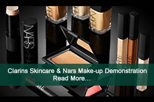 Clarins Skincare & Nars Makeup Demonstration