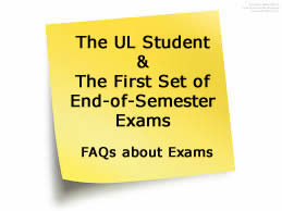 FAQs First Year Exams