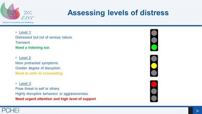 Assesing levels of distress