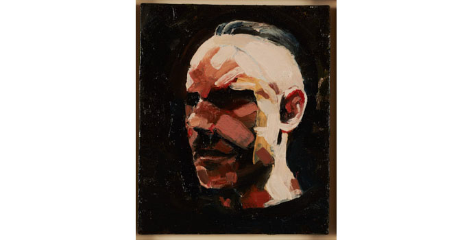 Stephen Lawlor - Self, 2013. Oil on Canvas 30 x 25cm, NSPCI.2012.480
