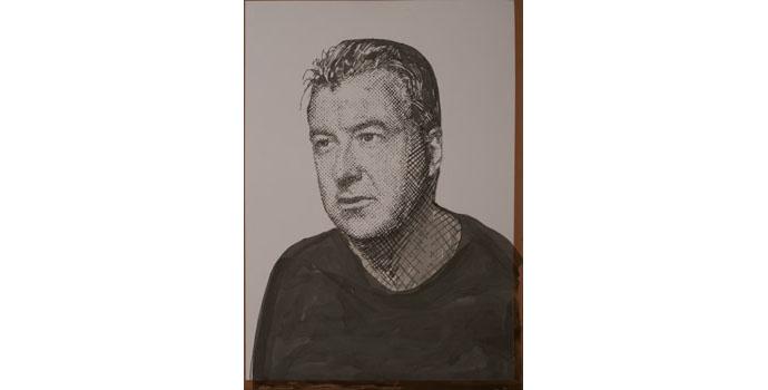 Mark O'Kelly - Self-Portrait Limerick, 2013. Watercolour on paper 70 x 50cm, NSPCI.2012.484