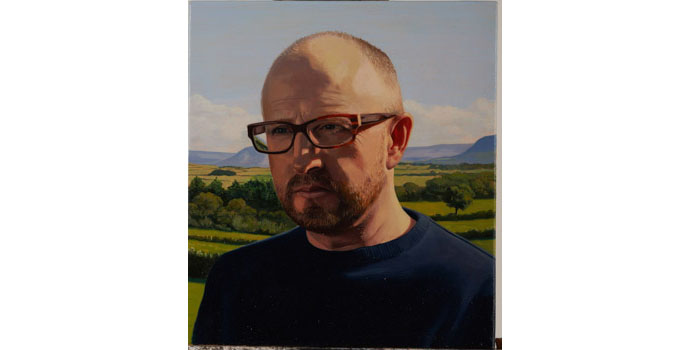 Ronnie Hughes - Untitled (self-portrait), 2012. Oil on Canvas 39 x 35cm, NSPCI.2012.479