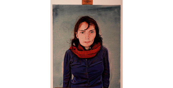 Ann Quinn, Self Portrait, 2012. Oil on linen 61.2 x 50 cm, NSPCI.2012.471.