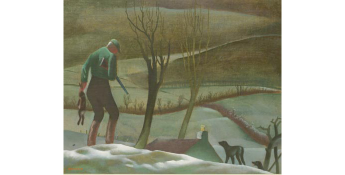 Cecil Ffrench Salkeld (1904-1969) Hunting in Wicklow, c.1945 oil on canvas 28 x 34.5 cm IACI.2003.015