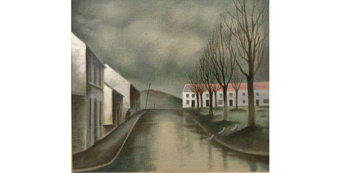 Cecil Ffrench Salkeld (1904-1969) Malin Town, Co.Donegal, c.1945 oil on canvas 39.4 x 44.4 cm IACI.2003.017