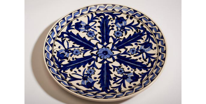 CR84 IACI.2002.236 Ikaros Pottery Plate Greece 2.9 x 28.1 x 28.1 cms Ceramic