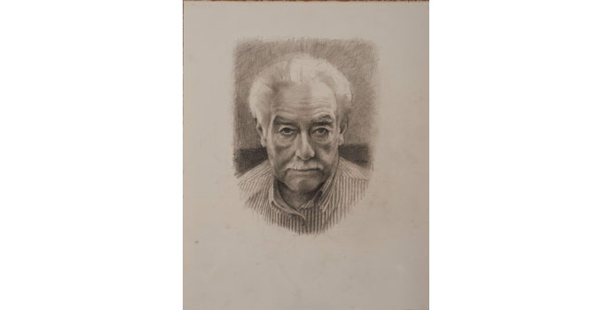 Campbell Bruce H.R.H.A - Untitled, 2012. Pencil on Paper 46 x 38cm, NSPCI.2012.478.