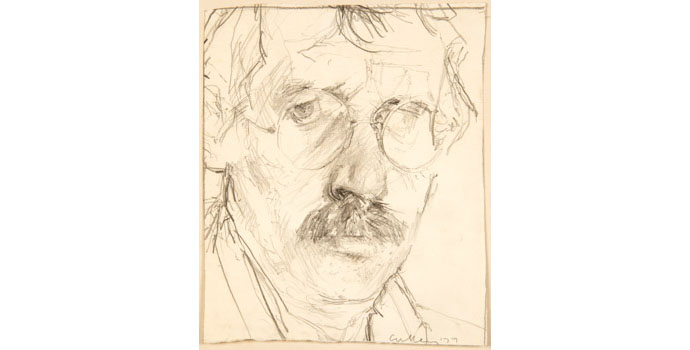 Charles Cullen (1939-), Self-Portrait. Pencil on paper 28 x 23.5cm, NSPCI.2011.450.