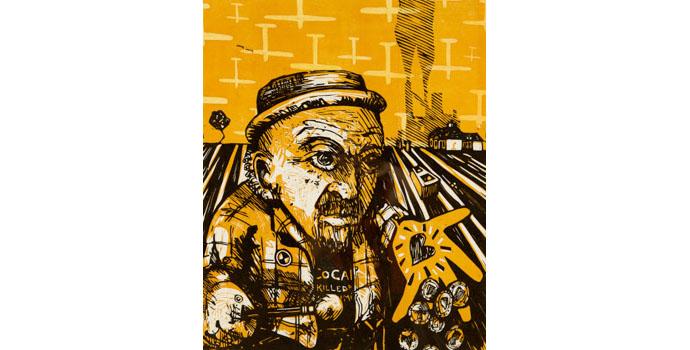 Des McMahon (1967-), 'HERE NOW', 2011. 56 x 45cm, NSPCI.2011.454.
