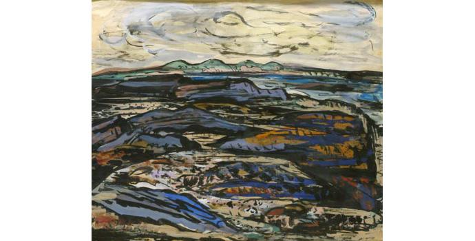 Evie Hone (1894-1955) Landscape, 1941 gouache on paper 31.3 x 38.1 cm IACI.2003.021