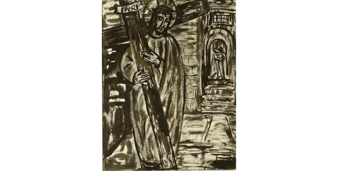 Evie Hone (1894-1955) Stations of the Cross II, c.1945 ink drawing on paper 31 x 25.2 cm IACI.2003.022A