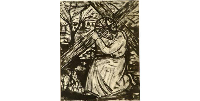 Evie Hone (1894-1955) Stations of the Cross III, c.1945 ink drawing on paper 30.5 x 25 cm IACI.2003.022L