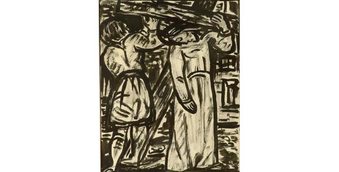 Evie Hone (1894-1955) Stations of the Cross V, c.1945 ink drawing on paper 30.5 x 25.2 cm IACI.2003.022B