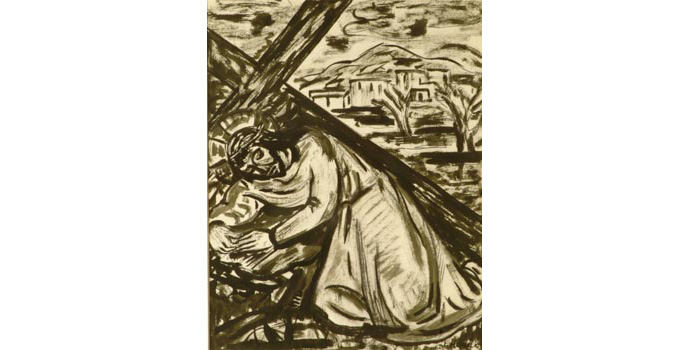 Evie Hone (1894-1955) Stations of the Cross VII, c.1945 ink drawing on paper 31 x 25.3 cm IACI.2003.022J