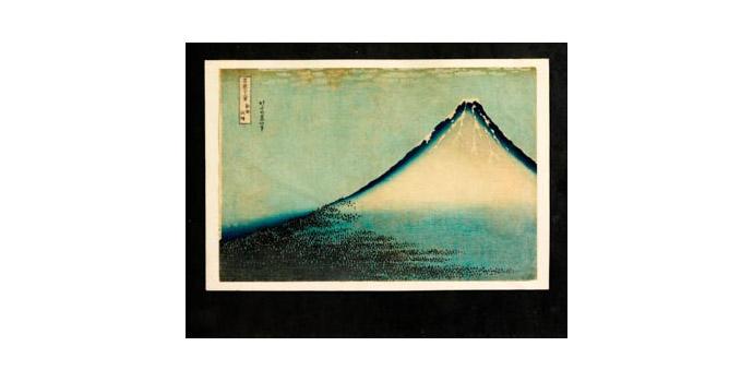 Mount Fuji, Katsushika Hokusai (1760-1849) - Woodblock Print - 24.3 x 36.1 - 2002.005/PA108